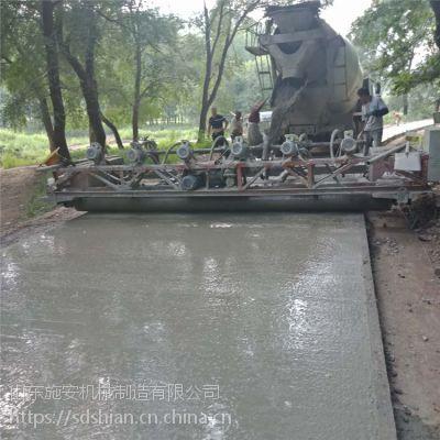 三辊轴摊铺机的价格 自走式路面混凝土整平机 操作简单 型号全万维