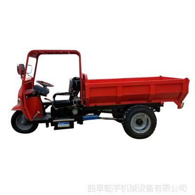 建筑工地沙石专用柴油三轮车工程自卸翻斗超载重成人摩托三轮