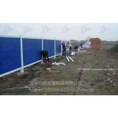 pvc施工围挡彩钢工程城市围挡地铁建筑工地围栏pvc塑钢隔离栏