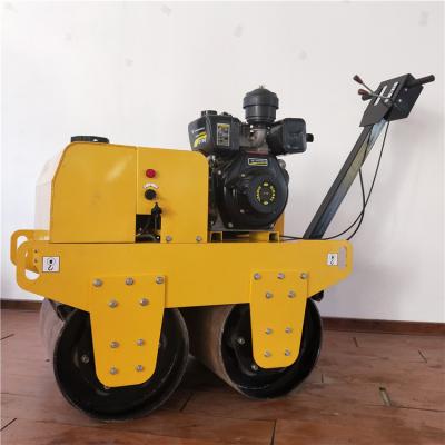 小型手扶双钢轮压路机 回填土压土机 厂家直销振动压实机