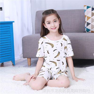 小孩女童夏装睡衣套装可爱十岁夏天夏款薄款公主夏季sy儿童女宝宝