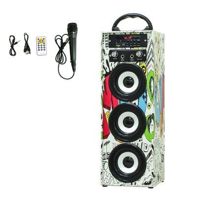 热销MUSICCROWN家庭音箱 超大容量 卡拉OK 插卡 USB户外音箱 CE FCC