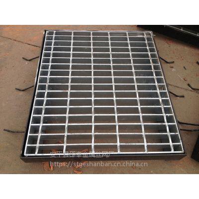 供应西安石油灌顶平台热镀锌钢格板 化工厂脱硫塔平台走道压焊钢格板