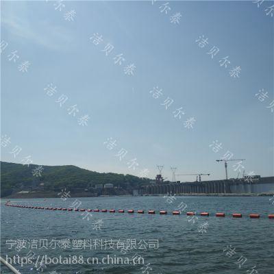 水葫芦拦截网浮子水上大面积围栏浮筒施工