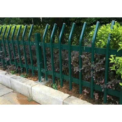 雅安市喷塑锌钢草坪护栏厂家多送立柱配件