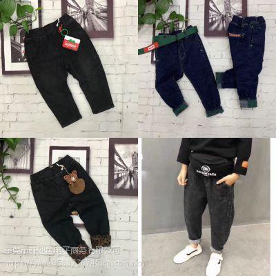 沧州童装批发市场在哪河北童装批发去哪里拿货好35元以内冬季加超柔绒厚实牛仔裤批发