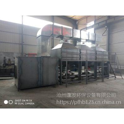 工业废气处理设备10000风量活性炭吸附脱附催化燃烧环保设备是怎样工作的