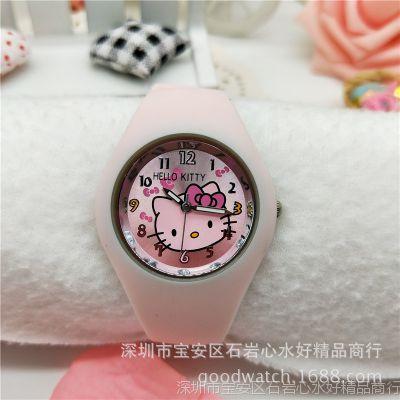 hello kitty果冻儿童手表kt硅胶卡通手表【工厂直销】