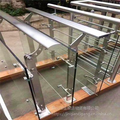 热销 室内不锈钢楼梯立柱 商场玻璃栏杆扶手 玻璃栏杆 可定制