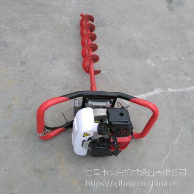 汽油打坑机 螺旋挖孔机厂家 多用植树挖坑机产品
