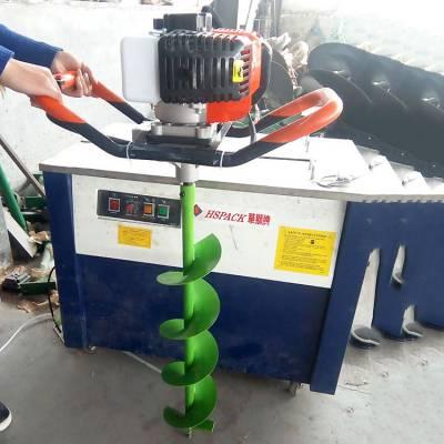 植树挖坑机 手提式汽油钻眼机视频操作