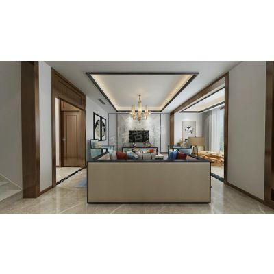 天古装饰金辉城江城著新中式风格联排别墅户型改造设计意境图