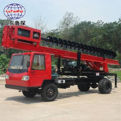 直销鲁探双排座长螺旋打桩机大型车载式旋挖钻机工程桩工机械