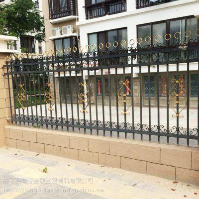 铸铁围墙护栏 弯头式防护栏 小区草坪栅栏