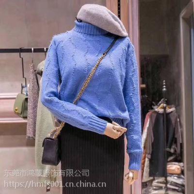 低价便宜毛衣尾货服装批发 秋冬装加厚外套羊毛衫批发
