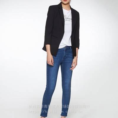阿莱贝琳时风国际19年春高端品牌女装短袖折扣尾货走份批发惠汇