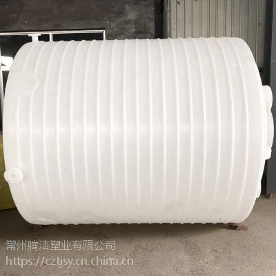 济南10吨PE大型加药箱 10立方加厚塑料滚塑容器 耐酸碱大型搅拌罐