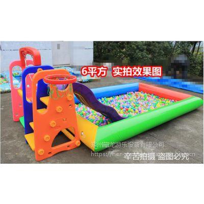 室外商场娱乐充气沙滩池 充气气垫单层沙滩池价格 充气沙池气垫郑州哪里销售