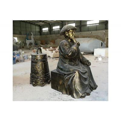 来图定制树脂纤维仿铜人物雕塑玻璃钢抽象农耕人物摆件户外美陈装饰