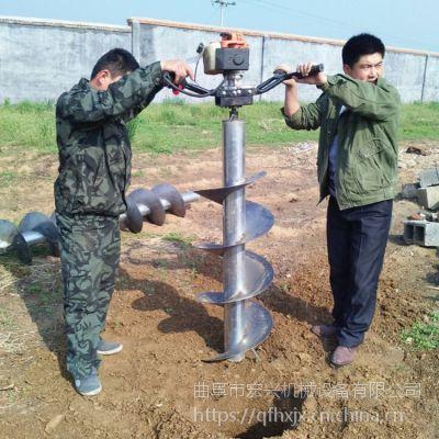 大马力汽油式挖坑机 家用型制孔机 3.8马力打孔机