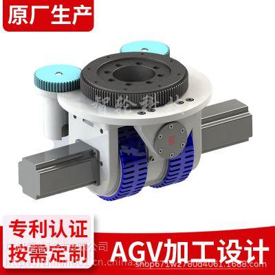 AGV差速舵轮 双排驱动轮总成 重载驱动单元总成 伺服电机 行星减速机 大负载轮