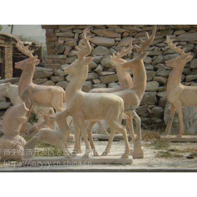 嘉祥动物石雕鹿的美好寓意