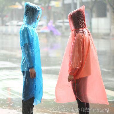 加厚便携户外一次性雨衣 成人旅游旅行雨衣套登山漂流男女雨披
