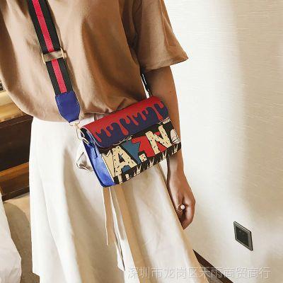 女士小包包宽带小方包2017新款时尚女包韩版迷你百搭单肩斜挎包潮