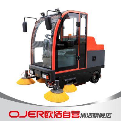 欧洁驾驶式M-1900 全封闭式扫地机 清扫车 河北扫地车供应