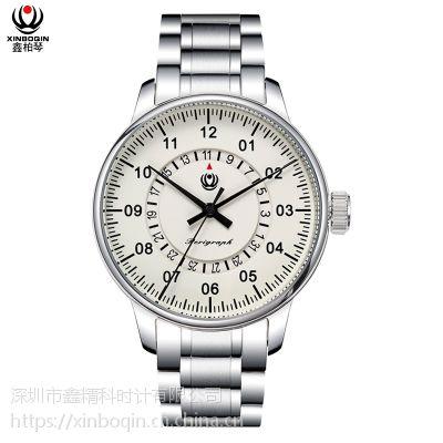 鑫柏琴品牌厂家直销一手货源男士高档全自动机械手表圆形防水钢带商务正品