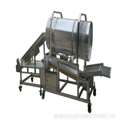 滚筒式鸡米花上粉油炸机 速冻肉制品裹粉机 304不锈钢鱼米花上粉油炸线