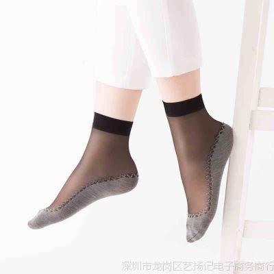10双女土丝袜女祙防滑短款薄款短筒黑色短袜夏季防勾丝袜子