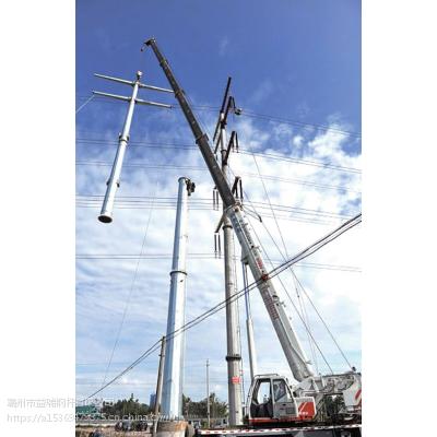 益瑞钢杆厂批发10KV电力钢杆 转角杆 耐张杆 终端杆 基业