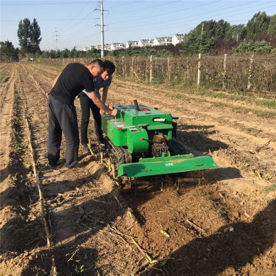 除草施肥35马力履带施肥机 省油易操作履带开沟机