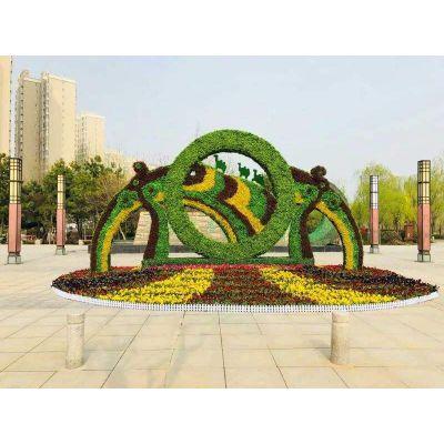 成都仿真绿雕雕塑厂专业生产仿真绿雕造型 五色草立体雕塑