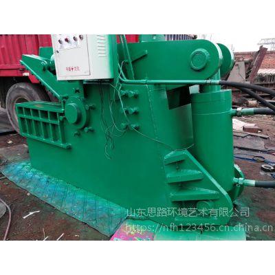 金属废料250吨鳄鱼剪切机配输送带价格 带风冷鳄鱼剪切机图片山东思路定做输送带