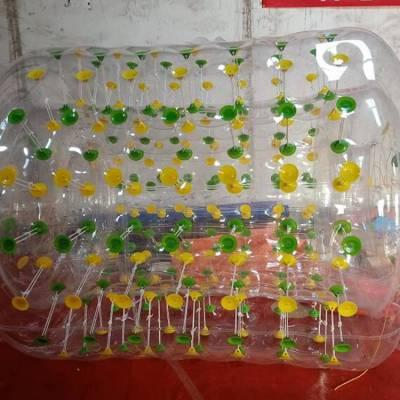 江西加厚PVC水上滚筒移动水乐园充气浮具滚筒球新品