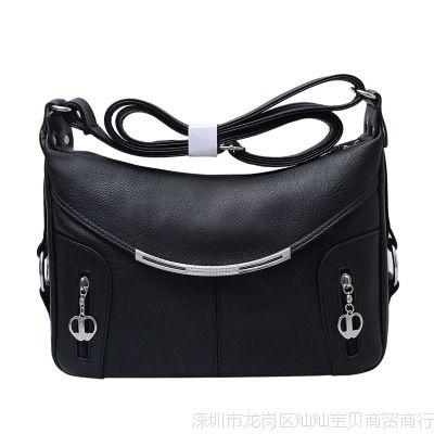 中年妇女包女士斜背包中老年人妈妈单肩斜跨大包包软皮老人斜挎包