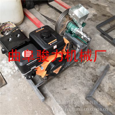 供应小型食品加工设备膨化机 单缸空心棒膨化机 骏力大米江米棍机
