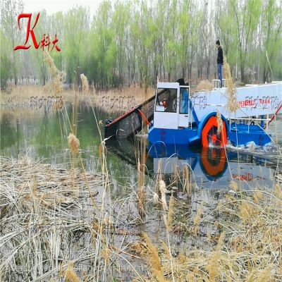 河道水草打捞船 公园水葫芦收集运输设备