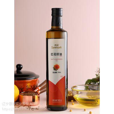 晟麦红花籽油压榨一级植物油亚油酸78%冷压红花子籽食用油烹饪500