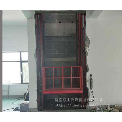 供应余姚1-20吨导轨式升降机液压货梯升降平台