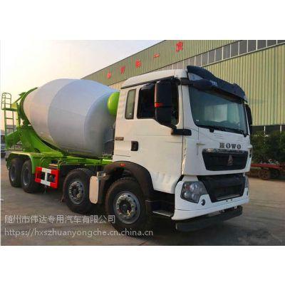 供应豪沃T5G轻量化(如重汽,陕汽,红岩,联合,福田)-6.87L排量12-14方混凝土搅拌车