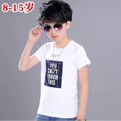 男童短袖t恤潮童纯棉中大童夏装男孩半袖衣服韩版洋气儿童T恤江西运城大量便宜童装批发