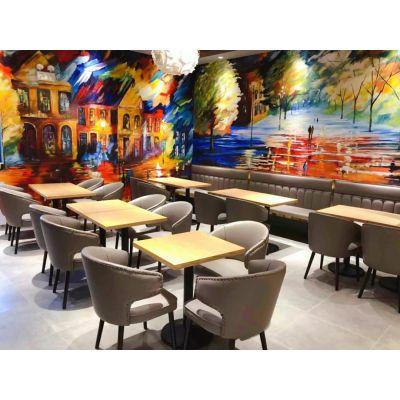 上海湘菜馆实木餐桌定制 中餐厅餐桌椅组合 上海韩尔家具厂直销