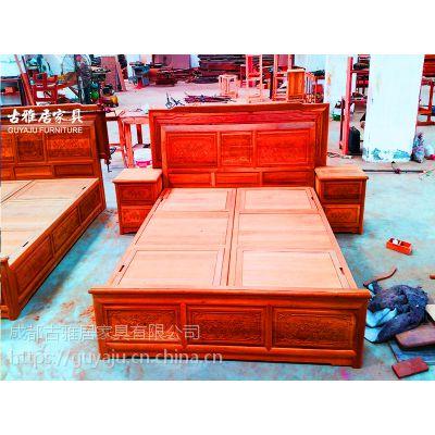 那有实木床,沙发,大板桌古典中式家具定制价格