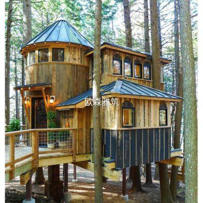 度假村树屋,可移动木屋,木结构,胶合木结构,木制别墅,木结构房屋