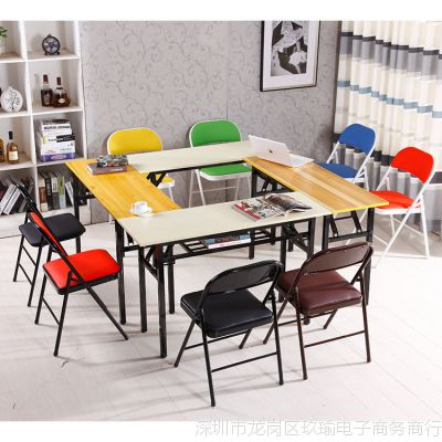 员工餐桌辅导班白色咖啡厅家具书桌复古长桌长方桌休闲学生公司