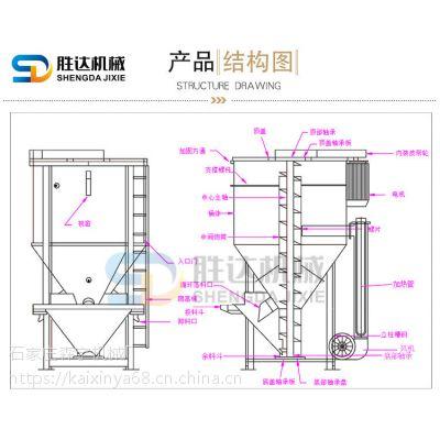 丽江300公斤立式塑料搅拌机不锈钢医用色母混色机粉状颗粒混料机