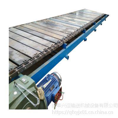 矿山链板输送机耐用 铁件运输链板输送机图片定制厂家
